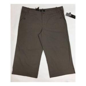 Mossimo sz 16 Brown Capri Stretch Pants NEW